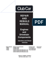 Club Car Engine Drivetrain Repair Rebuild