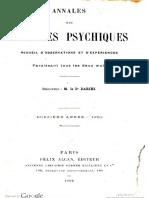 Annales Des Sciences Psychiques v12 1902