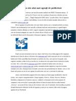 Analiza Site-ului Unei Agenții de Publicitate