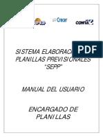 Manual Usuario Encargado Sistema SEPP