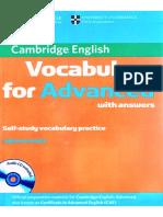 Vocabulary for Advanced