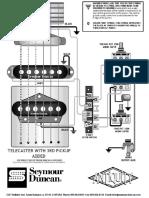 Guitar - Luthier - Fender Telecaster Schematics (Seymour Duncan)