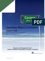 Internship Report- Student's Pack V2.3
