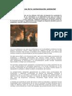 El Probleambientalma de La Contaminación Ambiental