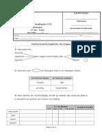 1.º Teste Portuguãšs - Gramática_5âºano
