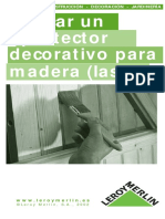Aplicacion de Protectores Decorativos Para Madera
