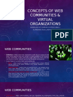 Concepts of Web Communities & Virtual Organizations (Clustergridcloud Computing)