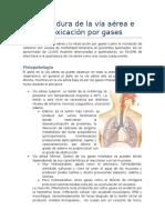 Quemadura de La Vía Aérea e Intoxicación Por Gases