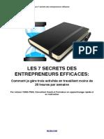 7 Secrets Entrepreneurs Efficaces