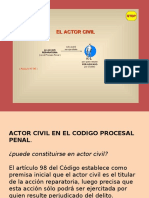Derecho Procesal Penal - Actor Civil