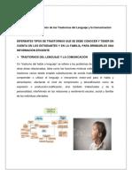 Trastornos de Lenguaje y Comunicación