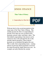 Time Value of Money Compounding Less Than 1 Year