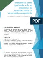 La Competencia Como Organizadora de Los Programas De