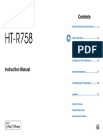 user manual htr758