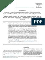 Alzheimer's Disease Assessment Scale-cognitive 11-Item Progression