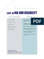 Lifespan and Disability