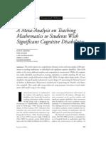 A Meta-Analysis on Teaching Math w MI