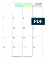 2015 2 Page Full Size Calendar