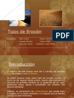 Tipos de Erosión