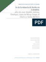 Impacto de La Minería de Hecho en Colombia