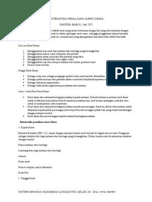 Sistematika Penulisan Surat Dinas Pdf