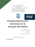 Proceso Diacrónico y Sincrónico en La Evolución Del Internet Hasta La Actualidad