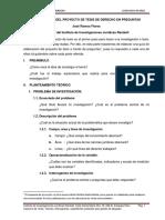 GUÍA ELABORACIÓN DEL PROYECTO DE TESIS A TRAVÉS DE PREGUNTAS