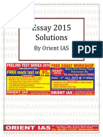 Essay Solv Upsc Mains 2015.by IAS MADE EASY
