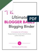 The Ultimate Blogger Babes Blogging Binder