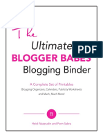 The Ultimate Blogger Babes Blogging Binder