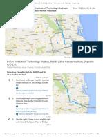 Indian Institute of Technology Madras to Chinmaya Harihar Vidyalaya - Google Maps