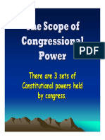 Gov Scope of Congressional Power