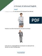 Webinar Formal Informal English