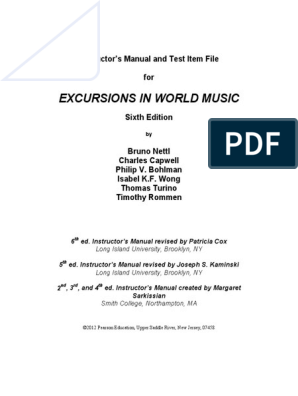 Music Melting Round: A History of Music in the United States: Instructors Manual