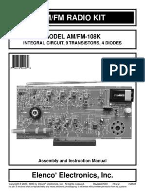 AM/FM Radio Kit Manual | Detector (Radio) | Amplifier
