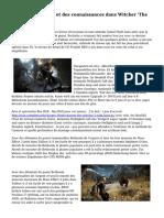 L'Impact des choix et des connaissances dans Witcher 'The 3