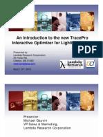 Interactive Optimize TracePro Webinar Presentation March 24th 2010