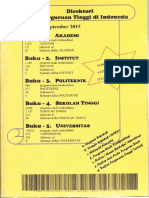 Daftar Akreditasi Program Studi & Direktori Perguruan Tinggi di Indonesia, Sept. 2015
