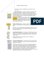 Parking Restrictions Table