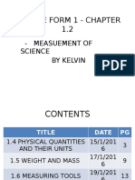 Science Form 1 - Chapter 1.2 By Kelvin