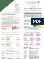 GCH Term Card - Spring 2016
