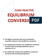 Plug Flow Reactor Equilibrium Conversion