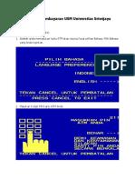 Petunjuk Pembayaran USM UNSRI Melalui ATM Bank BNI