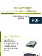 Basic Computer Hardware and Software