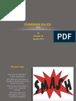 Canadian Sales 2015