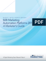 Marketing Automation Platforms 2015