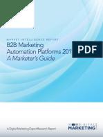 Marketing Automation Platforms 2015