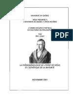 Hegel Et l Esthetique de La Maturite