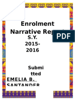 Enrolment Narrative Report