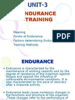 Endurence Training